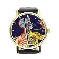 メンズ レディース通用腕時計 日本クオーツムーブメント製 防水 人体腕時計 (つちけいろ)