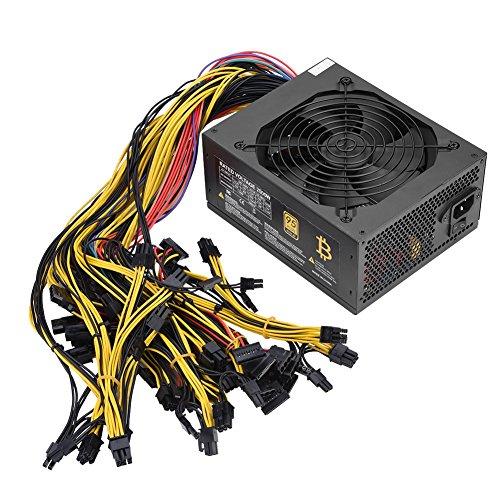 Fosa 2000W 160-240Vマイナー電源、95%高効率ファンPSU電源、12 * 6 + 2P PCI-E、7 * 4P Dラージインターフェース、9 * SATA、1 * 20 + 4P(24P)、1 * 4 8 GPUマイニング用+ 4P CPUコネクタ  ビットコインを掘る用電源