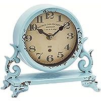 アンティーク調小物 置時計(ブルー) 52566