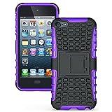 iPod touch 5 6ケース、重い義務の鎧ハイブリッド頑丈なケース耐衝撃性TPUカバーiPod Touch 5 / Touch 6(ディスプレイ画面4.0インチ)