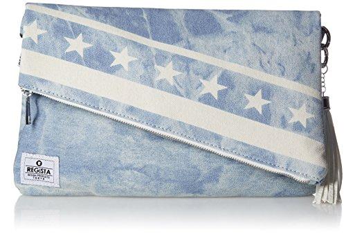 [レジスタ] 2WAY 星条旗柄 クラッチバッグ ショルダーバッグ メンズ レディース 男女兼用 ショルダーベルト付き セカンドバッグ 抜染加工 インディゴ デニム 2カラー 550
