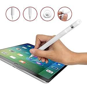 Yardoo Apple pencil ケース ペンシル カバー 軽量 三角形 転がり防止 キャップ紛失防止 よいフィット感(ホワイト)
