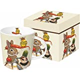 Paperproducts Design 603192 Harvest Party Gift Boxed Mug, 13.5 oz, Multicolor