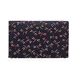 甲州印伝 本革 名刺入れ 黒地×赤漆 とんぼ柄 正規品 カードケース 日本製