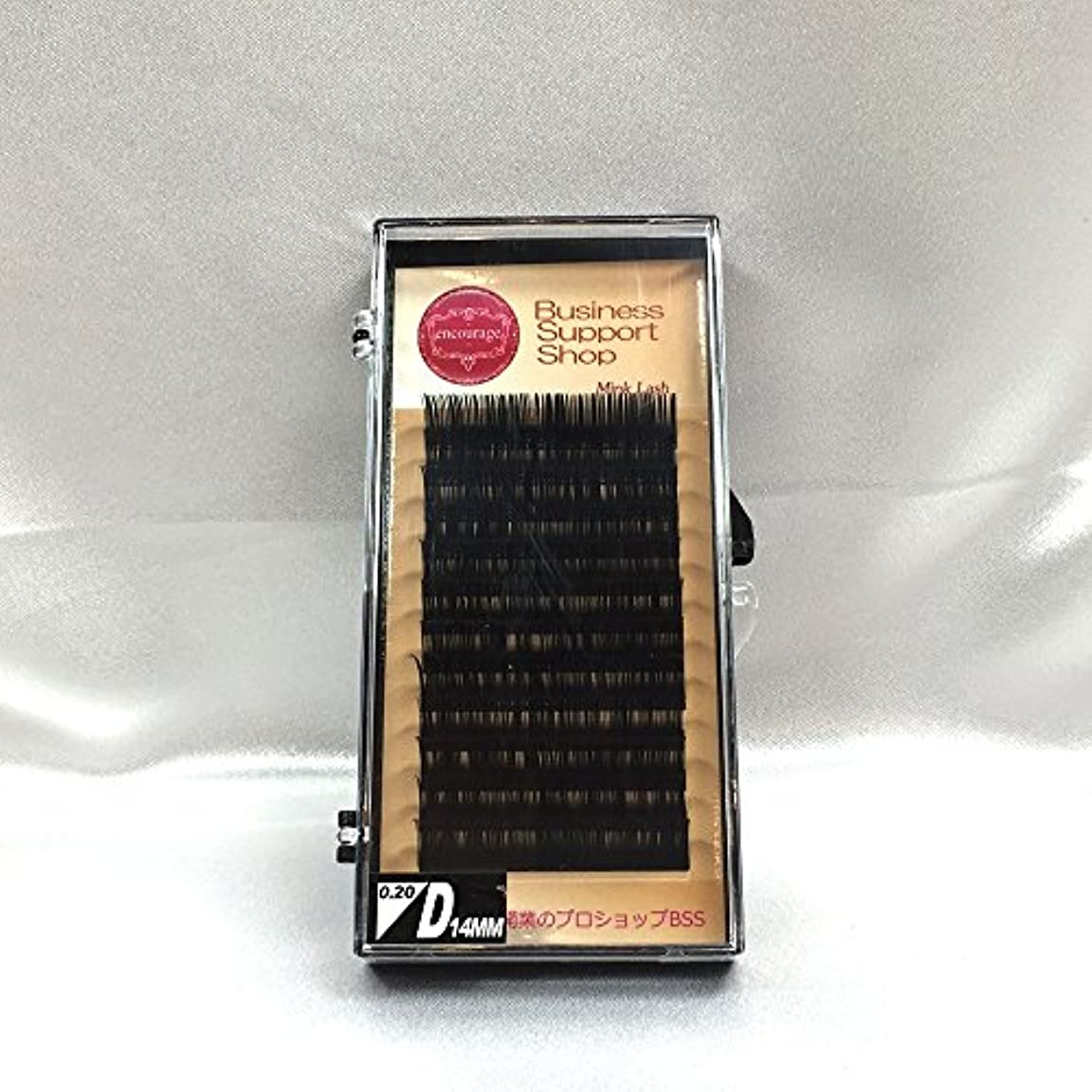 文法ラボ民族主義まつげエクステ Dカール(太さ長さ指定) 高級ミンクまつげ 12列シートタイプ ケース入り (太0.20 長14mm)