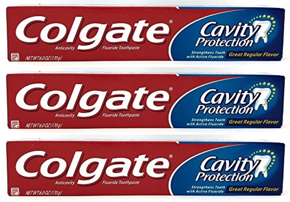 フォアマンスクレーパー皿Colgate 空洞保護フッ化物の歯磨き粉、定期的なフレーバー、6.0オズ(3パック)