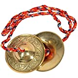 Guruji Divinity Handmade Percussion Instrument - Hand Cymbals Brass Manjira Manjeera - Indian Musical Instrument
