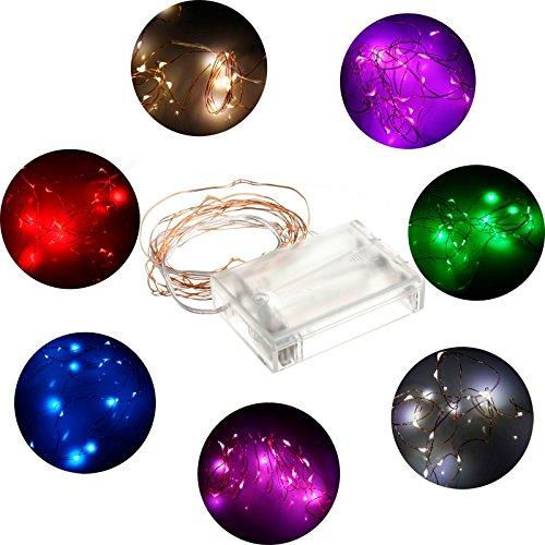 LEDジュエリーライト イルミネーション ライト ワイヤー スター 電池式 2m20球 (ウォームホワイト) LED ワイヤーライト クリスマス/飾り/電飾/クリスマスライト (ウォームホワイト)