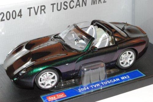 TVR Tuscan MKII Reflex Gr? 2004 Cabrio 1/18 Sun Star Modell Auto mit individiuellem Wunschkennzeichen by Sunstar [並行輸入品]