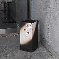 信楽焼 絵付き四角傘立て しがらき焼 笠立て 陶器 おしゃれ kt-0212