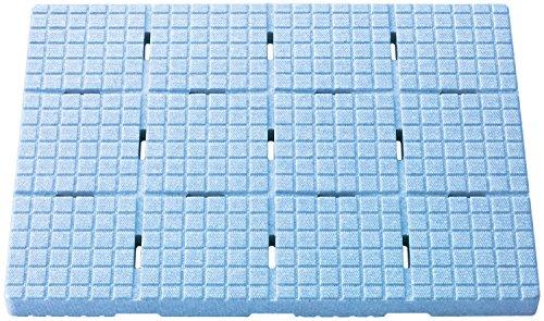 風呂マット ブルー 44×60×H3.6cm