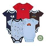 (マザーネスト) Mother Nest 2016年新作 カワイすぎるパーファクトフィットオール半袖ボディースーツ5枚セット 多くの色組み合わせ 100%綿 出産祝い ロンパース 子供服 ベビー服 Baby Bodysuit BBT010-9M