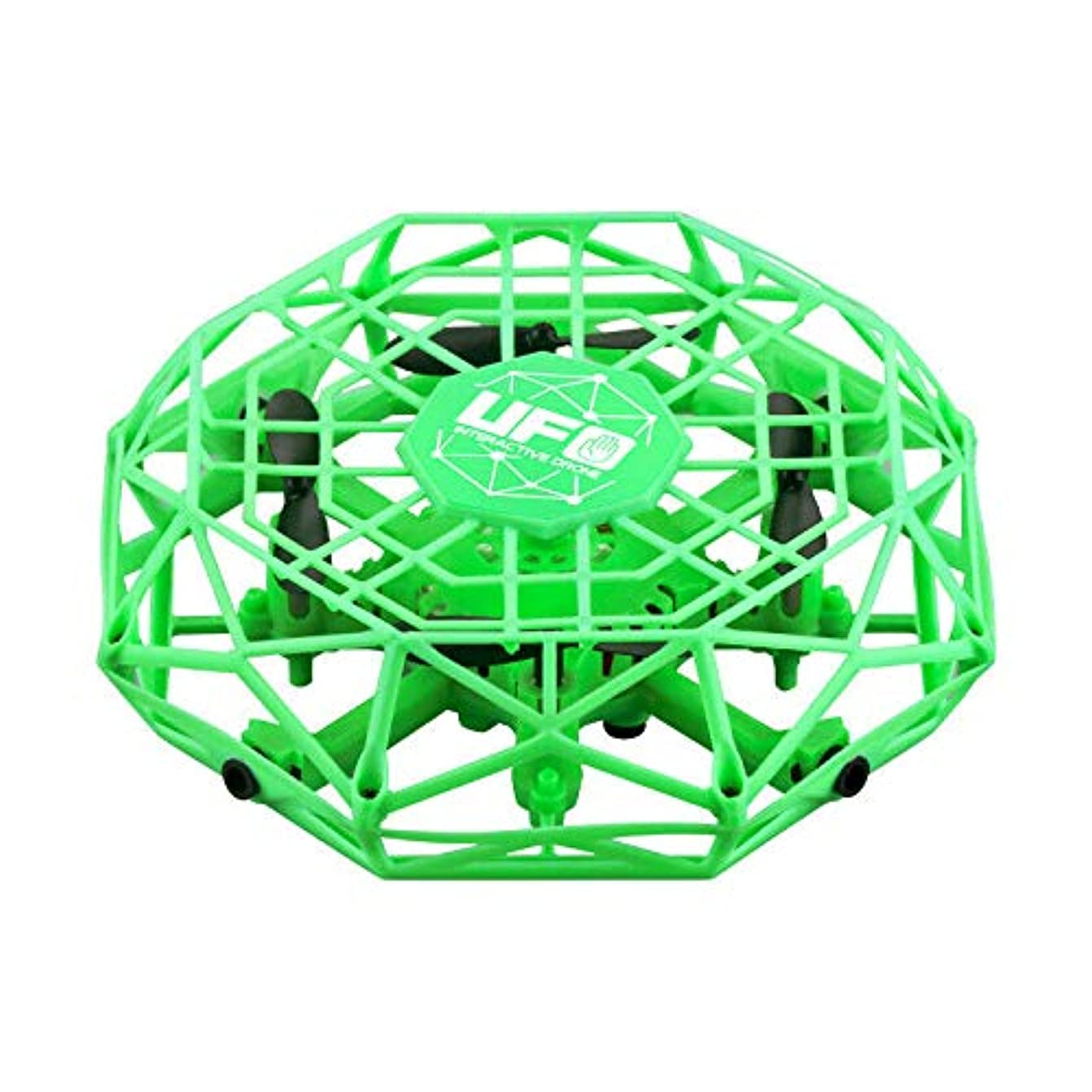取るに足らない独立した近くインテリジェントドローン インテリジェント UFO ジェスチャー 4軸 障害避け誘導 飛行機 ヘリコプター おもちゃ 子供へのギフト 緑