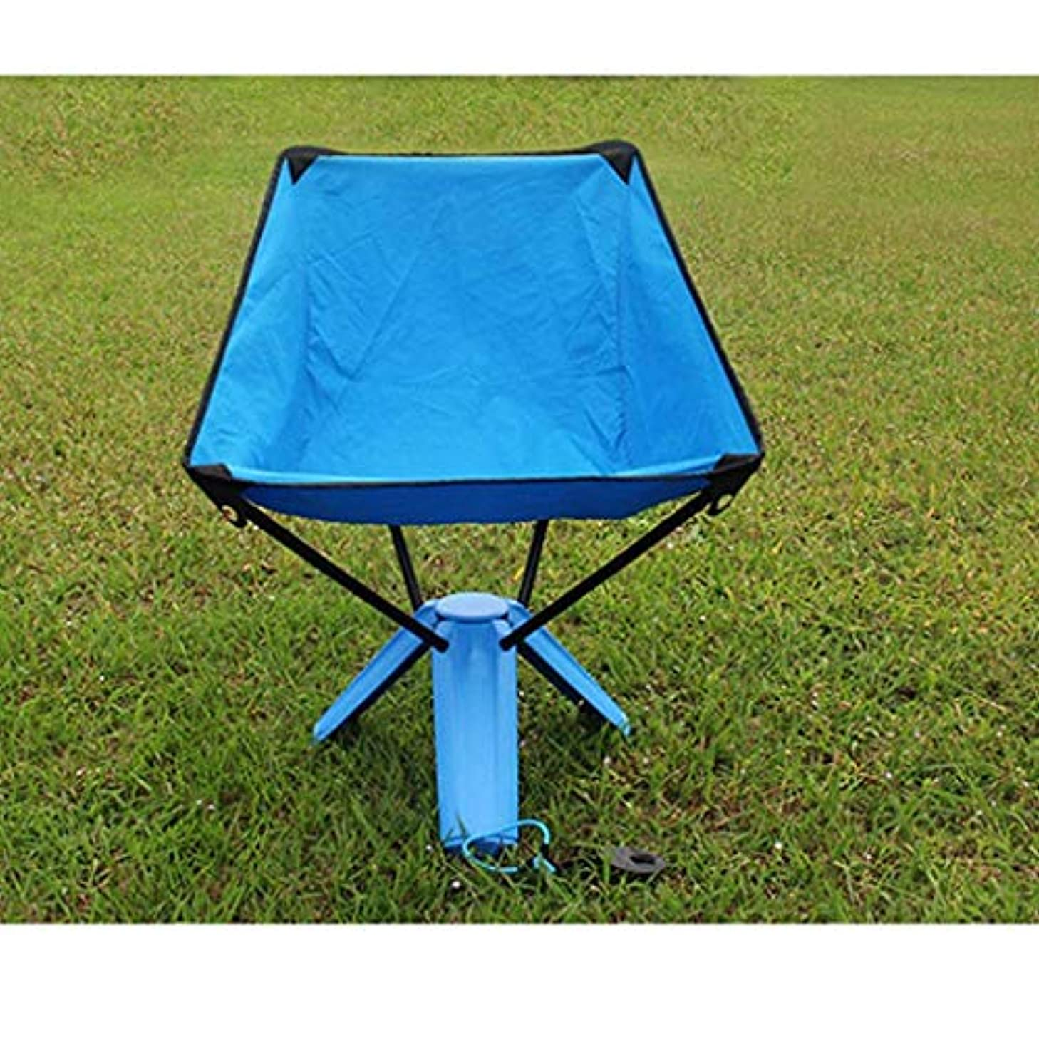 降ろすスロット略語屋外折りたたみ椅子、ポータブルピクニックバーベキューベンチ釣りスツールレジャー椅子新しい三角形の椅子スツール(色:青)