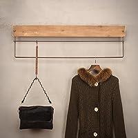 浮遊式棚 コートラックの衣類の店のハンガーのディスプレイのスタンドの壁が堅い木の籐の壁にマウントされたコートラック 工業用壁フレーム (サイズ さいず : 60 cm 60 cm)
