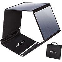Rockpals ソーラーチャージャー 50W ソーラーパネル ソーラー充電器 3ポート 高変換効率 折りたたみ式 スマホ ノートパソコン 充電可能