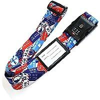 日本製 おしゃれ な ワンタッチ スーツケース ベルト (TSA ロック & ネーム タグ 付き) エアメール