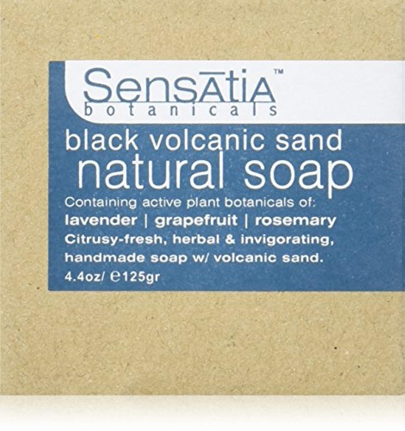 雑品ミュウミュウ泥だらけSensatia(センセイシャ) フレーバーソープ ブラックボルカニックサンド 125g