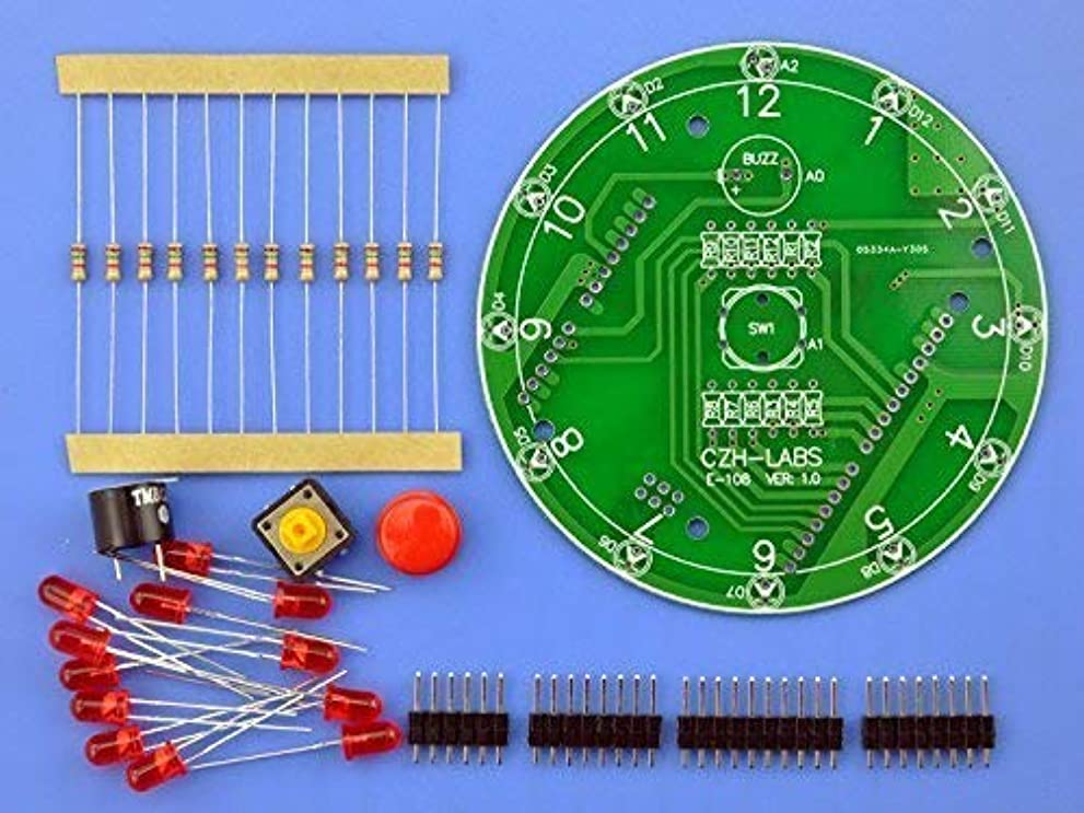 印象派耐久平行CZH-LABS elecronics-サロン12位 Arduino UNO R3用 電子ラッキーロータリーボードキット主導しました