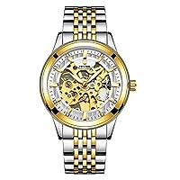 完全自動機械時計中空アウトメンズ腕時計