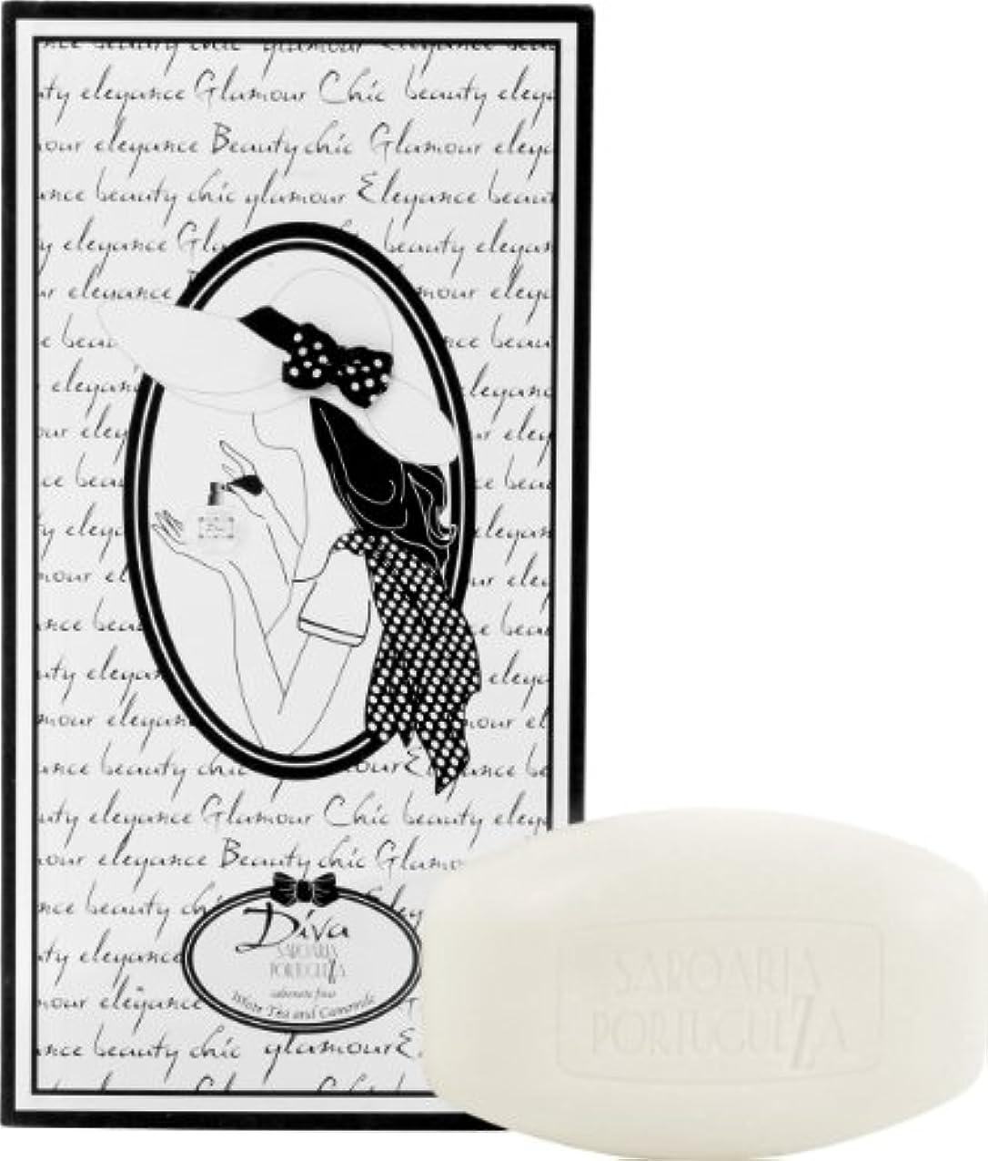 ステンレス袋かなりのサボアリア ディーバ/diva ソープセット10×20g ホワイトティー&カモミール