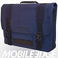 (Navy) - ECO Friendly Canvas Messenger - 17.3""