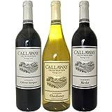 【Amazonワインエキスパート厳選】CALLAWAY(キャロウェイ)カリフォルニアワイン飲み比べ750ml×3本セット [USA/赤ワイン/辛口/ミディア..