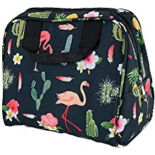 2 Moda Insulated Flamingo Print Lunch Tote Bag, Multi