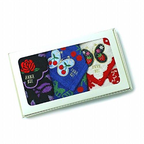 アナスイ Anna Sui タオルハンカチ ギフト 贈り物 ハンドタオル タオル ハンカチ 3枚セット (ピンクリボン)