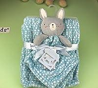 HuaQingPiJu-JP 乳幼児の柔らかい着物タオル抱き枕おもちゃぬいぐるみかわいいウサギ玩具_Blue
