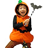 885a972f20f3e ベビー キッズ 子供服 ハロウィン 仮装衣装 ジャックオーランタン かぼちゃ 3点セット 長袖Tシャツ ベスト レギンス オレンジ 100cm  1064150607OR100
