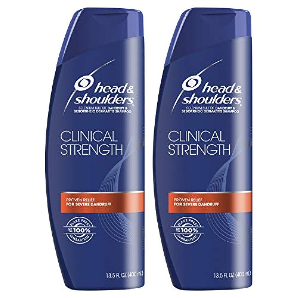 キャッチ期待してラケットHead and Shoulders Clinical Strength Dandruff and Seborrheic Dermatitisシャンプー、13.5 FL OZ