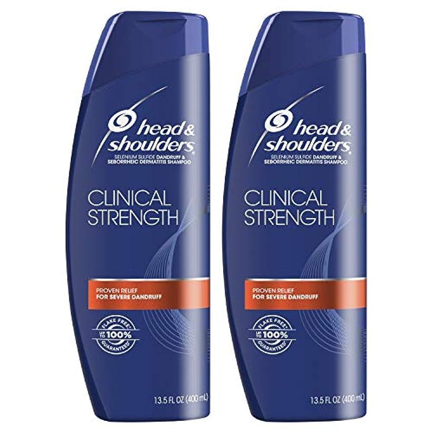 運動仮装うまHead and Shoulders Clinical Strength Dandruff and Seborrheic Dermatitisシャンプー、13.5 FL OZ