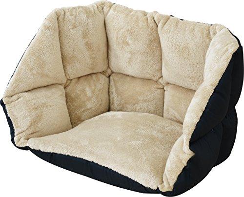 ottostyle.jp 背もたれ付き低反発ぬくもりクッション あったか座椅子 (ベージュ) マイクロファイバー素材