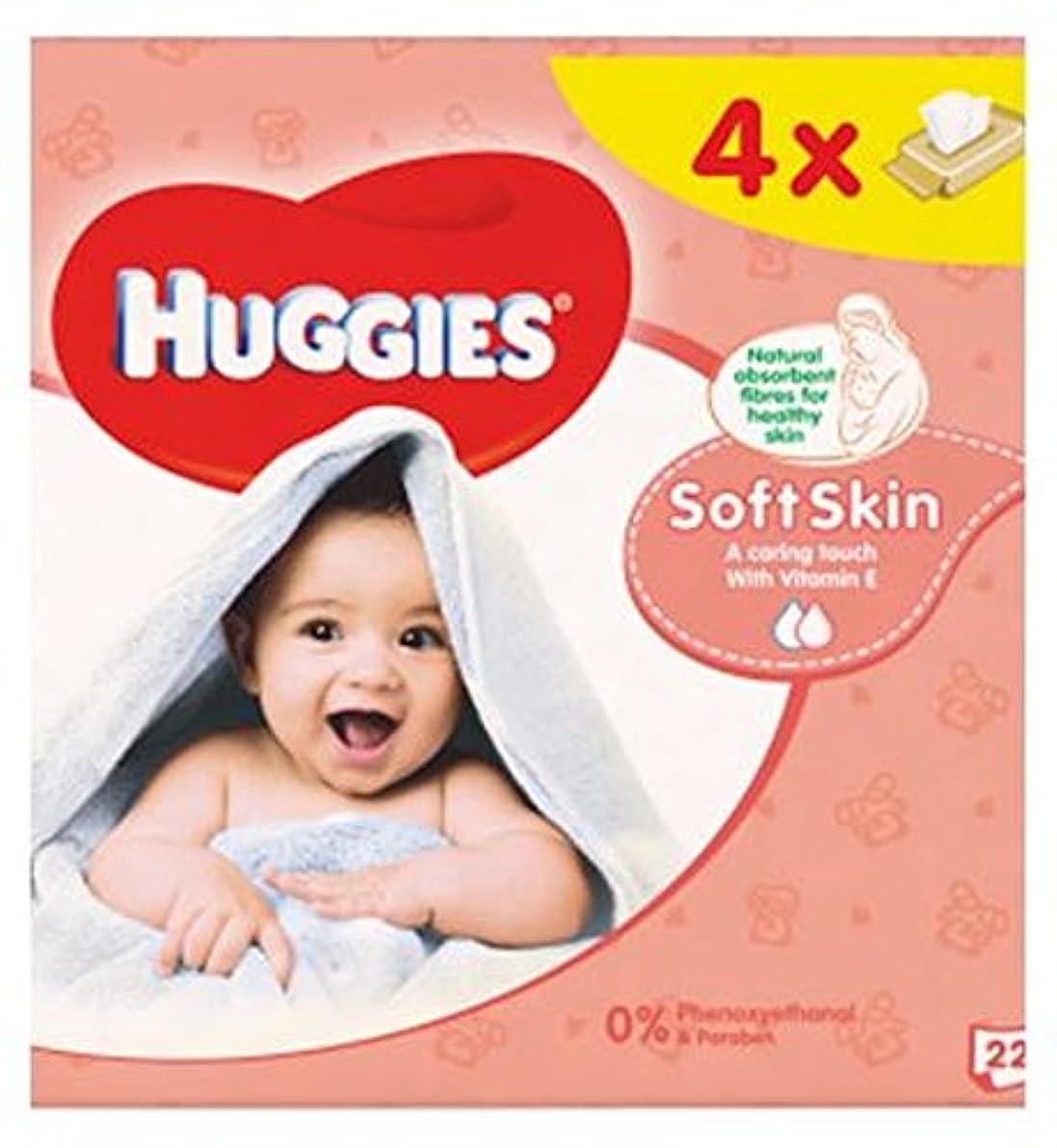 送信するベッツィトロットウッドバックHuggies Baby Wipes Soft Skin Quads 56s - ハギーズの赤ちゃんは柔らかい肌のクアッド56Sを払拭します (Huggies) [並行輸入品]