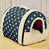 ペットハウス ドーム型 猫犬 室内用 ドッグ キャット ハウス ドーム型 折りたたみ式 ペットベッド by AKARU (S)