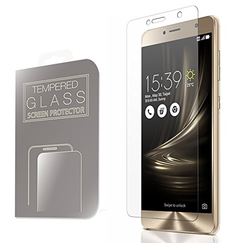 ZenFone 3 Deluxe ガラスフィルム 5.5インチ ZS550KL ASUS 液晶保護 透明 強化ガラス 国産 フィルムガラス 使用 ラウンドエッジ加工 MS factory 90日 保証 FD-ZF3DEL55-GLASS-CL