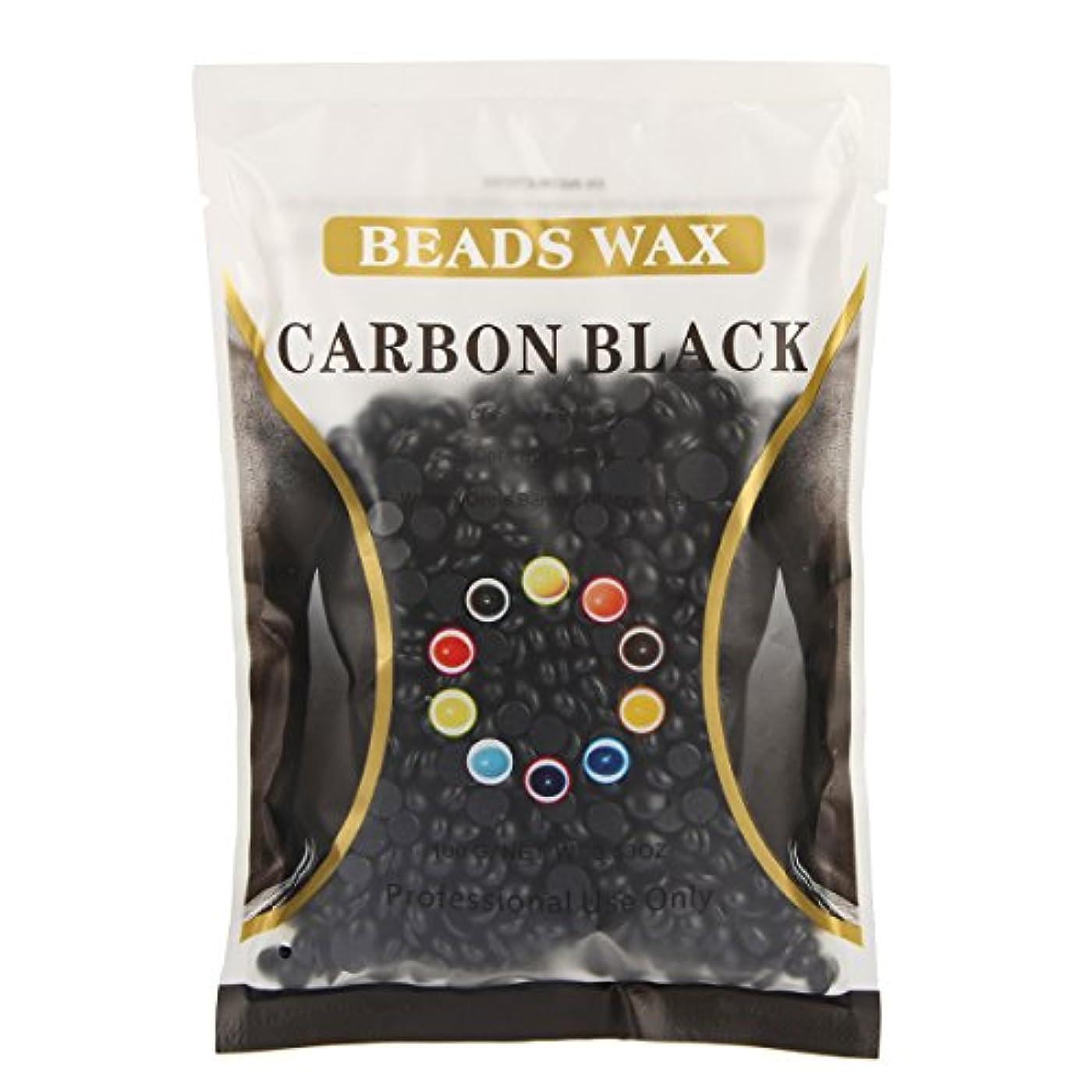 (アーニェメイ)Bonjanvye ワックス メンズ ハード 100g 脱毛 ワックス 鼻毛 ブラジリアン ハードワックス-ブラック