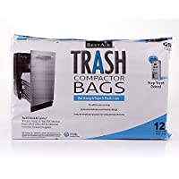 """BestAir Trash Compactorバッグ( 16"""" D。x 9"""" W x 17"""" H ,パックof 12) 4 Pack - (12 Bags)"""