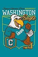オリンピック国立公園、ワシントン–イーグルマスコット–Collegiate Letterスタイル–ビンテージアスレチック 16 x 24 Giclee Print LANT-83810-16x24