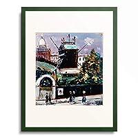 モーリス・ユトリロ Maurice Utrillo 「Die Muhle auf dem Montmartre.」 額装アート作品