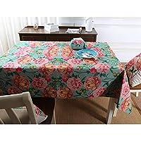 Venenos ホームガーデン厚い綿とリネンテーブルクロスデジタル印刷リビングルームダイニングテーブルクロス (Color : 01, Size : 145*300cm)