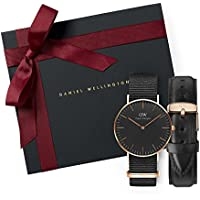 Gift Set Classic Black Cornwall 36mm + Classic Sheffield Watch Band 18mm