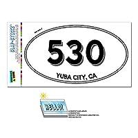 530 - ユバシティ, CA - カリフォルニア - 楕円形市外局番ステッカー
