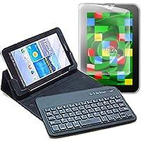 メディアカバーマーケット 東芝 REGZA Tablet AT3S0/35D PA3S035DNAS【7インチ(1280x800)】機種用 【Bluetoothワイヤレスキーボード付き タブレットケース と 反射防止液晶保護フィルム のセット】