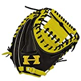 HI-GOLD(ハイゴールド) ソフトボール用グラブ ベーシックシリーズ 捕手用 LH 右投げ BSG-81M イエロー×ブラック