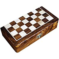 Two In One Wooden Board Game For Adults Chess Backgammon 20cm X 20cm