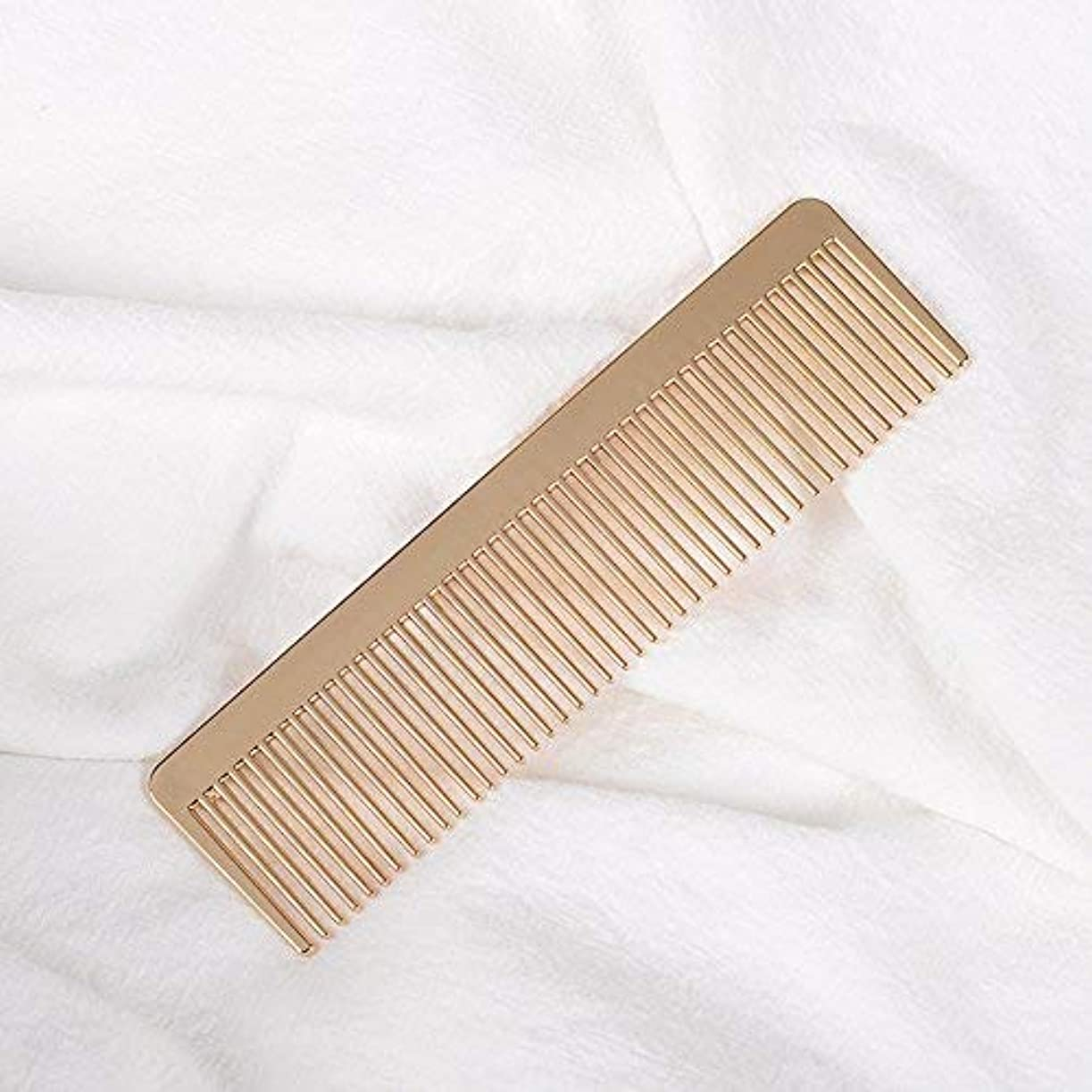 Grtdrm Portable Metal Comb, Minimalist Pocket Golden Hair Comb for Women Men Unisex [並行輸入品]