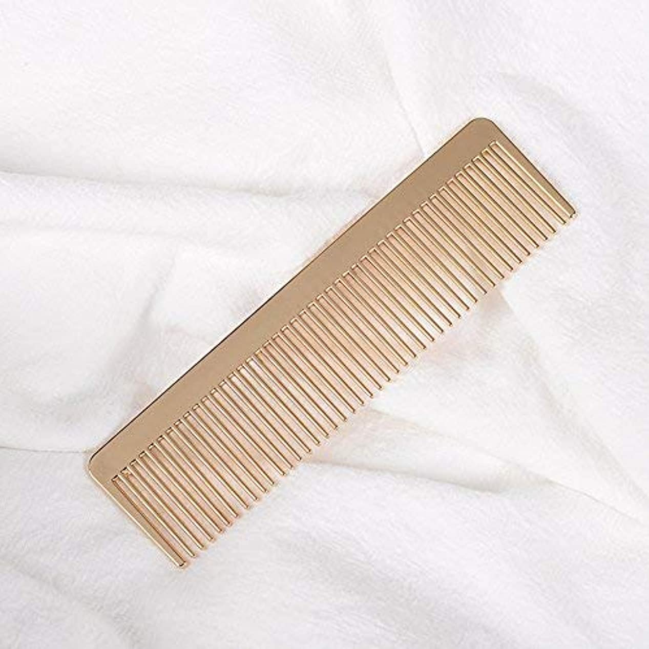 かろうじて事実上バケツGrtdrm Portable Metal Comb, Minimalist Pocket Golden Hair Comb for Women Men Unisex [並行輸入品]