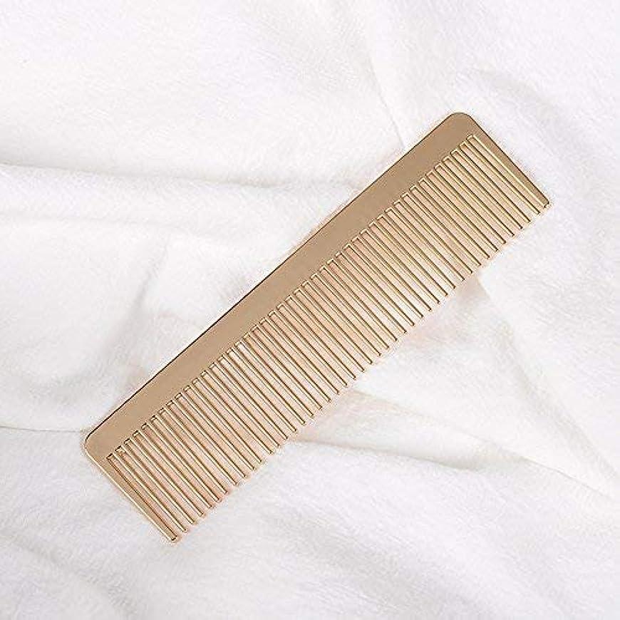 軽食ビジョン現金Grtdrm Portable Metal Comb, Minimalist Pocket Golden Hair Comb for Women Men Unisex [並行輸入品]